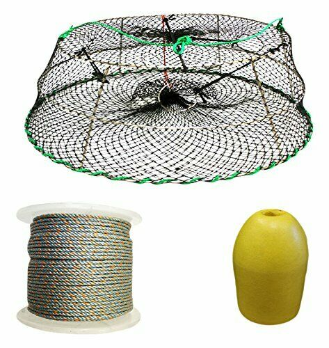 KUFA Sports Tower Style Prawn trap with 400' rope & Accessories CT76PAQ1