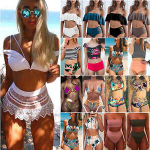 Women-High-Waist-Bikini-Set-Push-Up-Padded-Swimsuit-Swimwear-Bathing-Suit-Beach