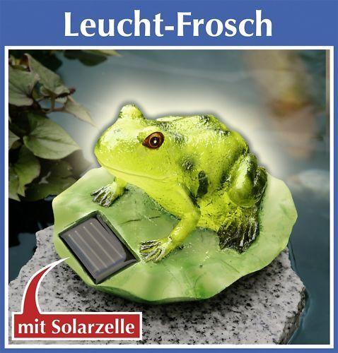 SOLAR FROSCH Leuchtet Gartendeko Terrassendeko Wenko Gartenteich Teichdeko