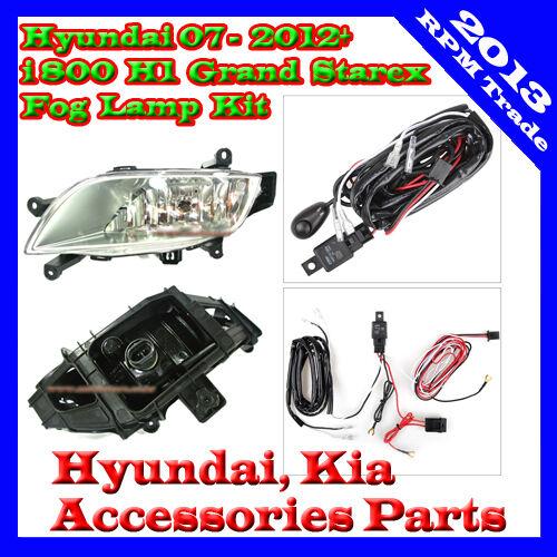 Fog Lamp Lights Complete Kit For 2007~2012+ Hyundai H-1 Grand Starex  i800 iMax