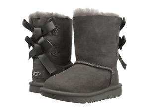 bd43e5149e7 NEW TODDLER INFANTS UGG BOOT BAILEY BOW II GREY WATER RESISTANT ORIG ...