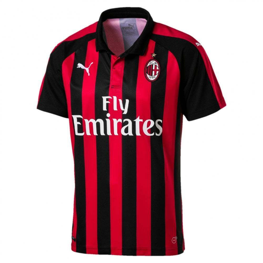 Puma AC Milan Home Mens Short Sleeve Jersey 2018 2019