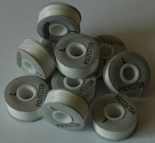 Pre Wound Embroidery Machine Bobbin Thread WHITE A983.1