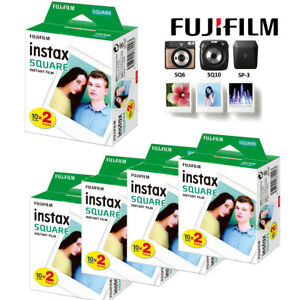 20 Sheets Square Film White Edge Photo Paper for Fujifilm Instax Sq10 Sq6 Sp-3