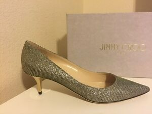 b96080e1c72 NIB  625+ Jimmy Choo AZA Light Bronze Glitter Pointed Toe Pump Shoe ...