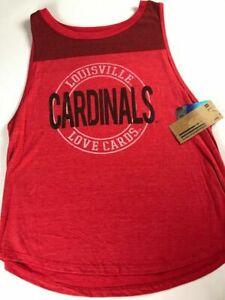 Louisville Cardinals Tank Top Womens Large Love Cards Triblend Shirt USA Made