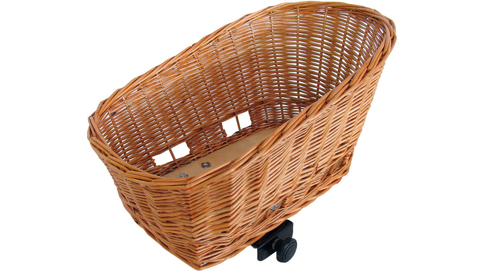 0.338.737 0 albahaca bicicleta cesta sauce mimbre trasero cesta Pasja 45 x 35 x 33