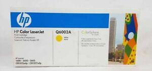 HP Q6002A Yellow 1600 2600 GENUINE Toner Cartridge NEW
