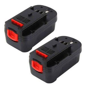2 x 18v 2000mah nicd slide battery for black decker hpb18 hpb18 ope 244760 00 ebay - Batterie black et decker 18v ...