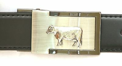 Donkey Emblem Belt Buckle and Leather Belt in Gift Tin Ideal Wildlife Present