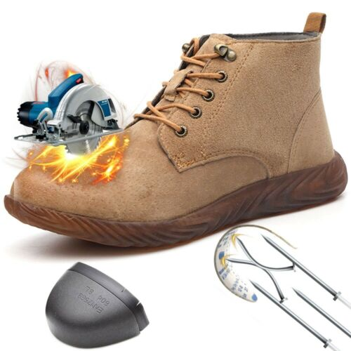 Men/'s Safety Indestructible Steel Toe Cap Work Boots Hiking Climbing Mesh Shoes