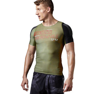 7c1007cc Details about Mens Reebok CrossFit Compression Tee Built With Kevlar  Training Wicking Shirt
