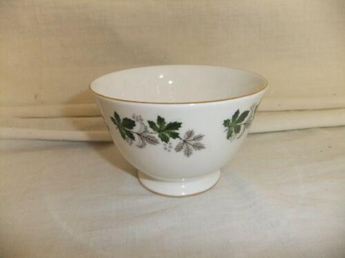 C4 Porcelana China de hueso Gainsborough-Verde//Gris Hojas de Arce Borde Dorado 7B3A