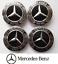 4-X-75mm-Mercedes-Benz-Alloy-Wheel-Centre-Caps-Black-Badges-AMG-A-B-C-E-S-Class thumbnail 3