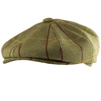 Quality Mens Waxed Flat Cap 2 Colours Winter Fashion Warm Waterproof Fishing