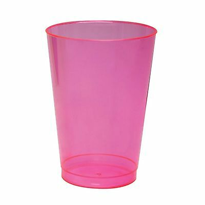 Plastic Neon Pink Hen Party Cocktail Glasses Tumblers 300ml - 10 20 30 60 120