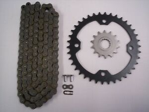 YAMAHA RAPTOR 700 SPROCKET /& GOLD O-RING CHAIN SET 14//38 2006-2015 blk