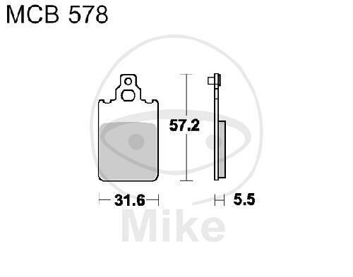 TRW Bremsklotz Bremsbelag Standard MCB578 Motorrad Bremsbeläge