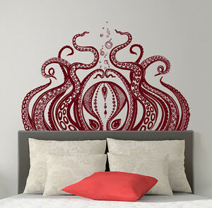 Image is loading Octopus-Wall-Decal-Tentacles-Vinyl-Decals-Kraken-Octopus- & Octopus Wall Decal Tentacles Vinyl Decals Kraken Octopus Sticker Sea ...