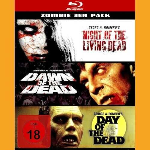 ZOMBIE 3ER PACK [Blu-ray] George A. Romero\'s Night, Dawn & Day of the Dead