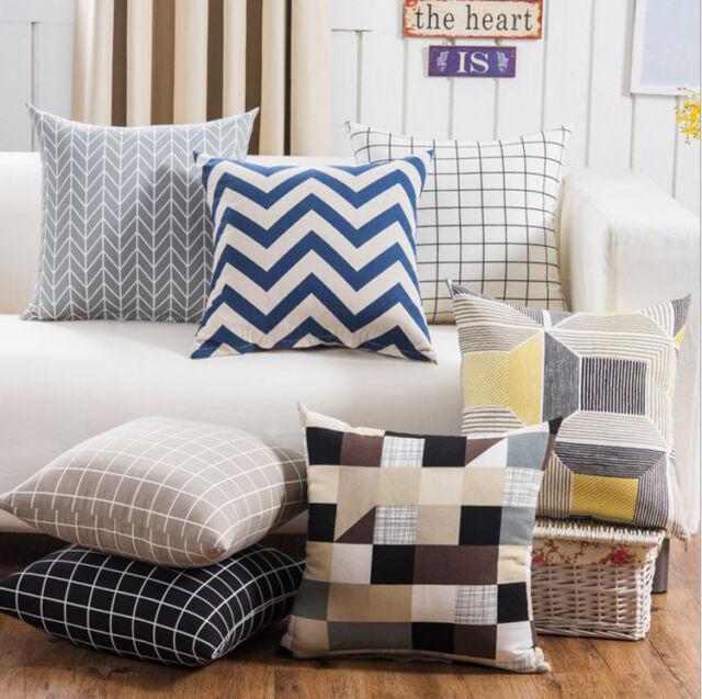 18'' Creative Geometric Pattern Throw Pillow Case Cushion Cover Home Sofa Decor