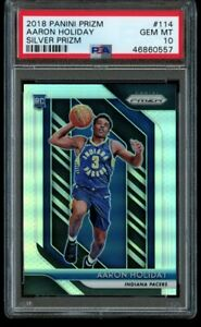 2018-19-Panini-Prizm-Aaron-Holiday-Silver-Rookie-PSA-10-Gem-Mint-114-RC-Pacers
