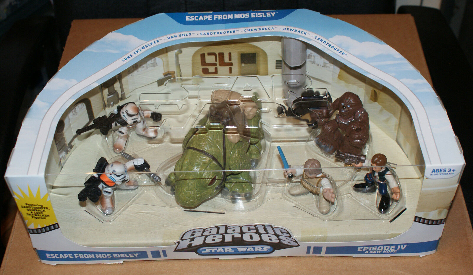 STAR WARS GALACTIC HEROES ESCAPE FROM MOS EISLEY SET MIB NEW A NEW HOPE IV