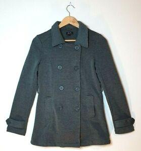 Bardot-Woman-039-s-Double-Brested-Jacket-Coat-Grey-Size-AU-8