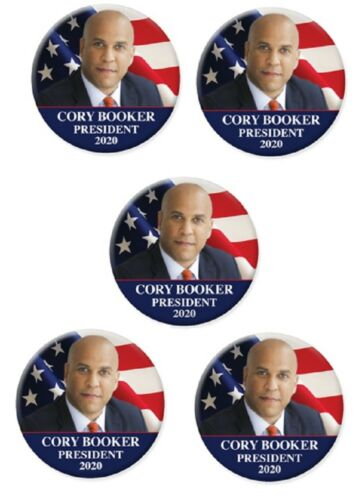 5 2020 Cory Booker For President Photo Campaign Buttons