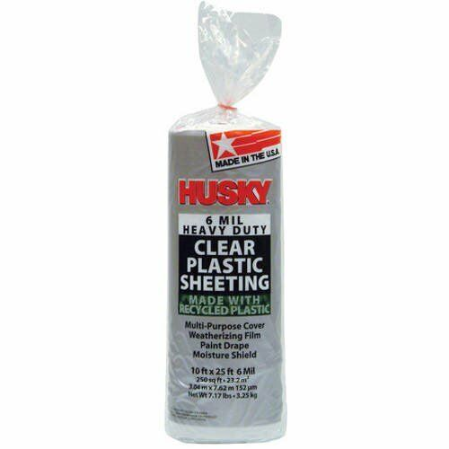 Husky 6 Mil Heavy Duty Clear Plastic Sheeting