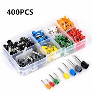 100Pcs Insulated Bullet Butt Crimp Terminal Electrical Wire Connectors AWG 22-10
