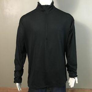 PATAGONIA-MEN-039-S-Capilene-Slim-Encolure-zippee-43656-XL-Noir-Neuf-Avec-Etiquettes