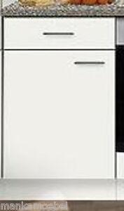 Unterschrank MANKABOX Weiß ohne Arbeitsplatte 60 x 60 cm Küche ...