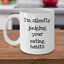 mug for nutritionist Funny dietitian gift Silently judging your eating habits