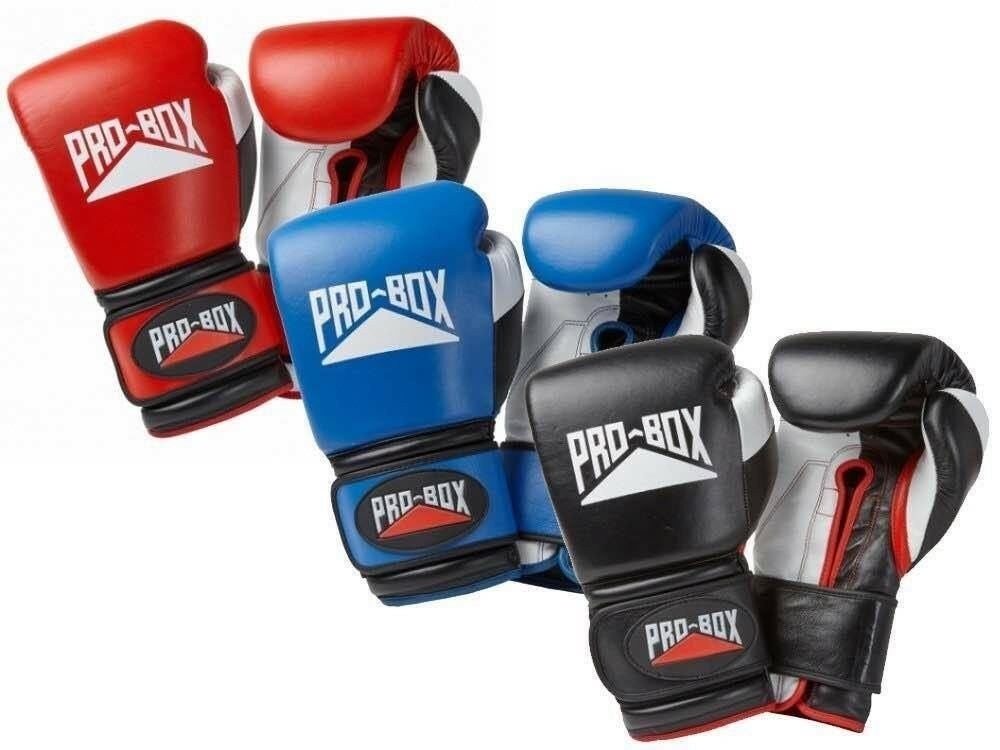 Pro Box di Ricambio Guantoni 10oz 12oz 14oz 16oz 18oz black bluee red Spar