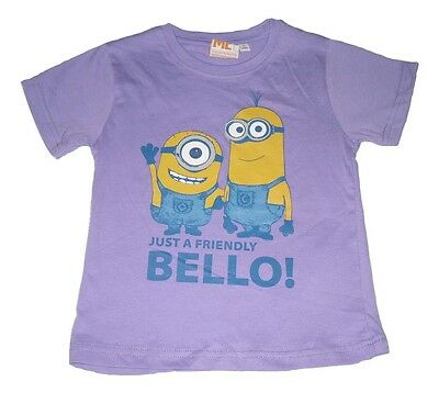 Girls T-Shirt Top Despicable Me Minions 4-10 Years