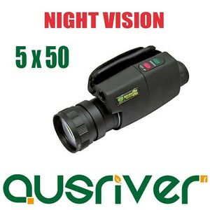 Brand New Digital 5X50 Night Vision Black Monocular For Hunting Boating