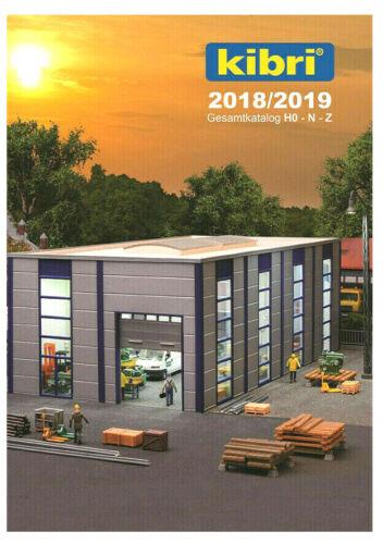 Kibri 99904 catalogue 2018-2019 avec liste de prix U Nouveautés feuille pour HO-N-Z