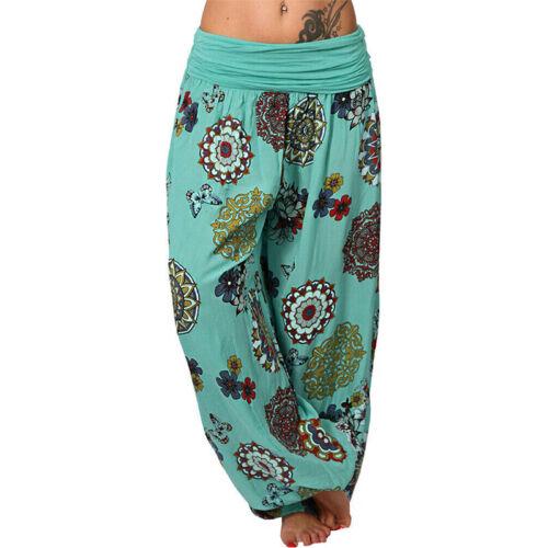 Plus Size Women Yoga Harem Pants Festival Baggy Gypsy Hippie Palazzo Trousers UK