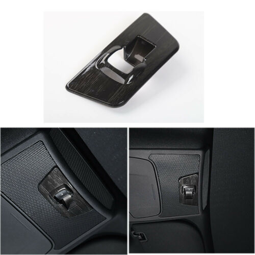 Balck Wood Grain Rear Window Lift Panel Switch Cover Trim for Ford F150 2015 up