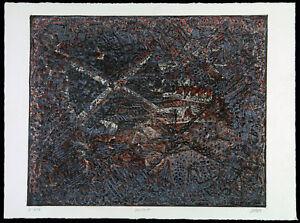 DDR-Kunst-Informel-U-447-1989-Unikatdruck-Ralf-KLEMENT-1950-D-handsigniert