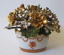 Vintage Mottahedeh Vista Allegre Portugal Metal Flowers Lowestoft Reproduction