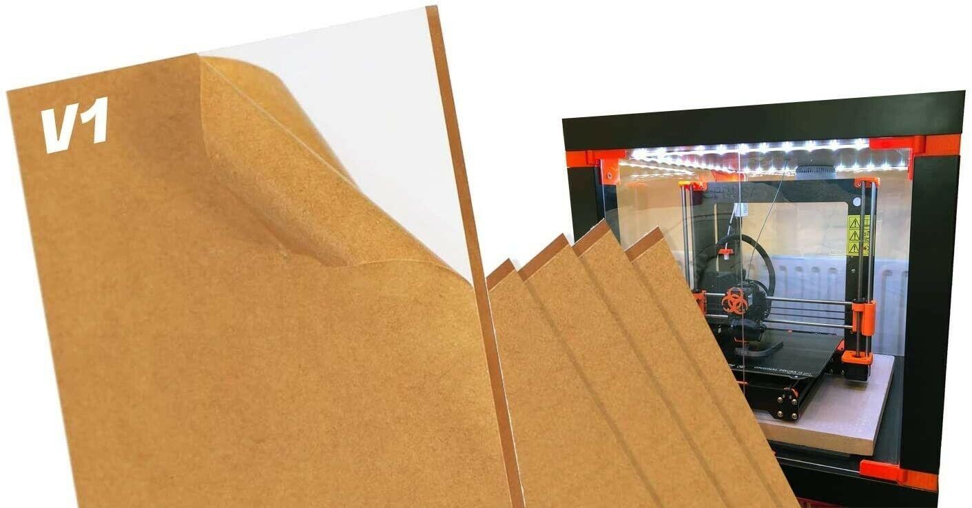 V1 Clear Prusa IKEA Lack Plexiglass 5 Pack (3mm) + 10 Magnets (20mm x 6mm x 2mm)