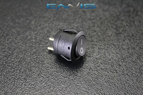 ROUND ROCKER SWITCH 3//4 ON OFF 6.5A 250V 13A 125V 2 PIN TOGGLE IBRRS