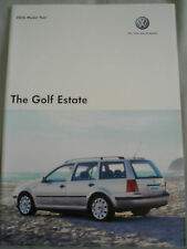 VW Golf Estate range brochure 2006 model year + price list