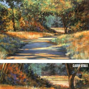 36W-034-x24H-034-FALL-COLORS-by-VICKI-ASP-COUNTRYSIDE-TREES-WALKWAY-TRANQUIL-CANVAS