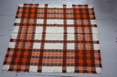 Brillant 60er Tischdecke Quadratisch Landhaus Orange Braun 78x78 Vintage Mid Century Bequem Und Einfach Zu Tragen