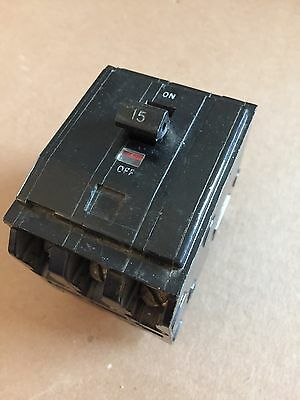 15 AMP 3 POLE 240 VOLT Circuit Breaker WARRANTY Square D QO315