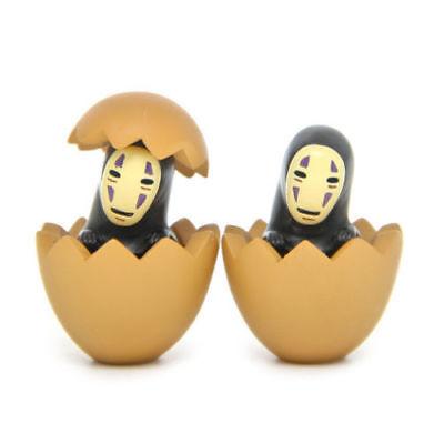 Anime Spirited Away No-Face Kaonashi Cute Figures Toy Playset 2Pcs Decoration