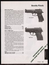 2003 BERETTA Model 92G, 92G Elite, 9000s Series Type 2 Pistol AD